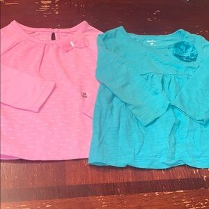 Two long sleeved tops